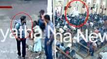 CCTV video shows suspected suicide bomber entering Sri Lankan church