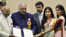 Late actress Sridevi recieved the posthumous Best Actress National Award in 2018 for  'Mom'. Her family came to receive it on her behalf.