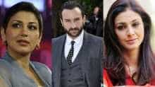 File images of Sonali Bendre, Saif Ali Khan and Tabu.