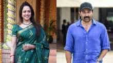 File images of Sunny Deol and Hema Malini