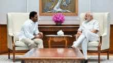 YSRCP chief Jaganmohan Reddy meets Narendra Modi in Delhi.