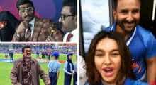 Ranveer Singh during world cup match between India and Pakistan