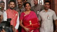 Nirmala Sitharaman arrives in Parliament