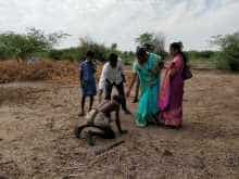 Bonded labourer after being rescued by NGO workers