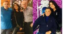 Anupam Kher with Rishi Kapoor and Neetu Kapoor