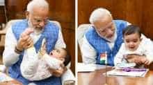 PM Modi playing with a baby. (Photo courtesy: Instagram)
