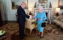 Boris Johnson meets Queen Elizabeth II