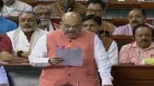Union Home Minister Amit Shah in Lok Sabha
