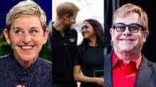 Degeneres' reaction comes after singer Elton John blasted British media for unnecessarily scrutinising the royal couple.