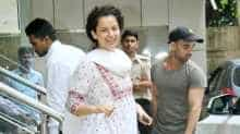 Kangana Ranaut spotted outside her dance class in Bandra, Mumbai.
