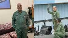 Defence Minister Rajnath Singh from HAL Airport