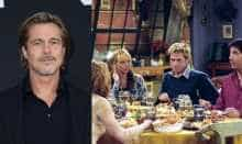 File image of Brad Pitt and still from Friends: 'The One With The Rumor' episode-9