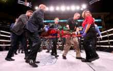 Boxer Patrick Day taken out of the ring on a stretcher