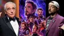 File images of Martin Scorsese and Kevin Smith and a poster of 'Avengers: Endgame'