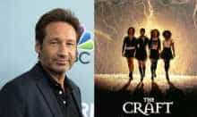 File image of David Duchovny and 'The Craft' movie poster