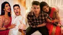 Priyanka Chopra and Nick Jonas shared photos of their first Karva Chauth together.