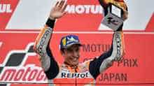 Japanese Grand Prix winner Repsol Honda Team rider Marc Marquez