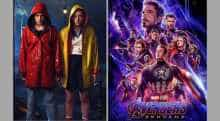 Posters of 'Avengers: Endgame' and 'Stranger Things'