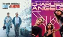 Movie posters of 'Ford v Ferrari' and 'Charlie's Angels'