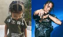 Travis Scott and daughter Stormi