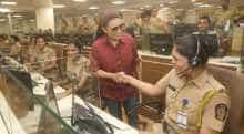 Rani Mukerji meets women cops in Mumbai