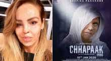 Katie Piper and Deepika Padukone in Chhapaak