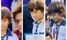 Proud father Shah Rukh Khan flaunts son's Abram medals won at school races