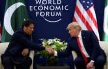 Pakistan PM Imran Khan meets US President Trump at World Economic Forum in Davos