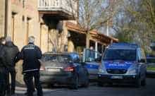 German police search a house after a shooter opens fire in the town of Rot am See