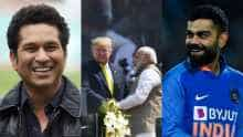 "Virat Kohli and Sachin Tendulkar called ""great cricketers"" by Donald Trump"