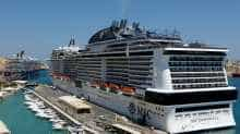 Cruise liners MSC Meraviglia seen berthed in Valletta's Grand Harbour, Malta. (File Photo)