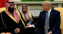 Donald Trump with Saudi Arabia Crown Prince