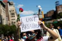 'I can't breathe' protests