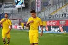 Achraf Hakimi joined his teammate Jadon Sancho Achraf Hakimi lifted his jersey to deliver the same message