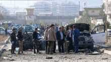 Representative: Security personnel and investigators gather at the site of a suicide attack in Kabul on November 13, 2019. At least seven people were killed and seven wounded when a car bomb detonated during Kabul's busy morning rush hour on November 13, an interior ministry spokesman said.