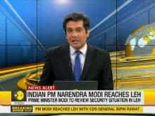Indian PM Narendra Modi reaches Ladakh to review situation