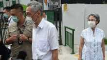 Lee Hsien Loong, Ho Ching came to cast their vote