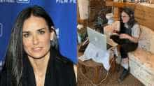 Demi Moore's latest post on Instagram gives a glimpse of her luxurious bathroom