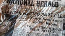 Indian newspaper found from Mont Blanc glacier