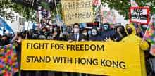 Protests over Hong Kong in China