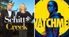 Schitt's Creek and Watchmen posters