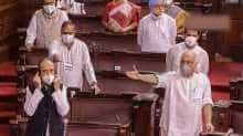 Rajya Sabha adjourned for the day amid uproar over suspension of members