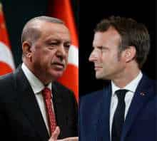 Turkey President Erdogan & French President Macron