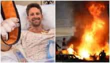 WATCH: Romain Grosjean survives horrific F1 crash after car engulfed in flames at Bahrain GP