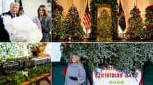 White House Christmas; Melania Trump, Donald Trump. Images: The New York Times