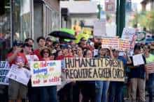 Protest against migrant protection protocols in US