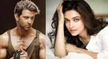 Deepika Padukone and Hrithik Roshan in Fighter