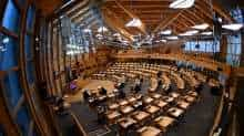 General view during the First Minister's Questions at the Scottish Parliament in Holyrood, Edinburgh, Scotland, Britain January 13, 2021, where she delivered an update on the coronavirus pandemic