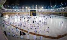 FILE PHOTO: Muslims at Grand Mosque in Mecca