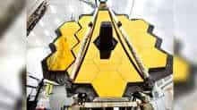 This NASA photo released on May 16, 2017 shows the primary mirror of NASA's James Webb Space Telescope inside a cleanroom at NASA's Johnson Space Center in Houston,Texas